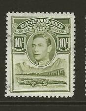 More details for basutoland sg28 kgvi 10s olive high value fine used cat £25 uk p&p free £1 ww