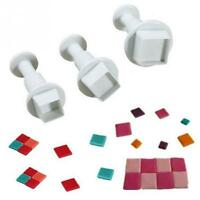 Square  Mold Cutter Fondant Cake  Cookie  Kitchen Gadget Tool CI