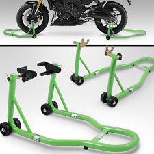 BITUXX® Motorradständer hinten & vorn Montageständer Transportständer Grün