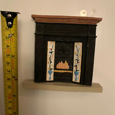 DOLLS HOUSE 1/12th SCALE  WHITE  VICTORIAN STYLE  RESIN FIREPLACE