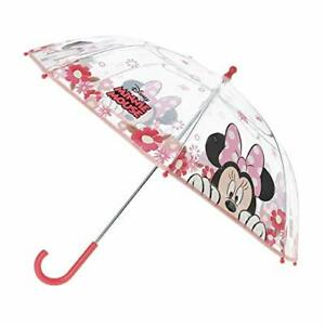 Stick Umbrella Minnie | in pink & transparent | Minnie Mouse | Children Umbrella