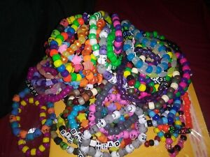 30 Mystery Kandi Bracelet Singles, EDM - ESCAPE - EDC - RAVE - PLUR - FESTIVAL
