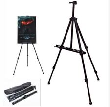 Easel Stand Alloy Folding Adjustable Tripod Stand Black