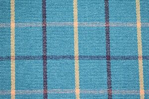 """Yarn Dyed Teal Plaid Canvas Duck Soft Upholstery Fabric 55""""W"""
