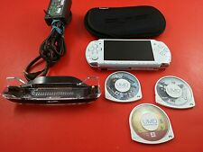 PSP 3001 White System Console w/ Daxter, Assassin's Creed & Charger RARE
