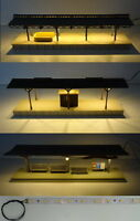 LED Bahnsteigbeleuchtung fertig verkabelt Warm-Weiß von 15cm bis 100cm länge