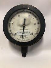Vintage Crosby Boston Lube Oil Service Suct. Pressure Gauge Brass Cast Iron