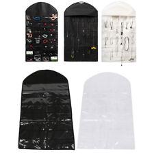 Closet Hanging Jewelry Organizer Bag Holder Pockets Travel Display Case Shelf