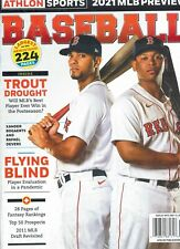 Athlon Sports Magazine 2021 Baseball MLB Preview Bogaerts Devers BOSTON RED SOX