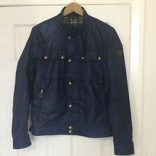 Belstaff RACEMASTER Wax JACKET Dark Navy 6oz Waxed Cotton rewaxed in store 38/48