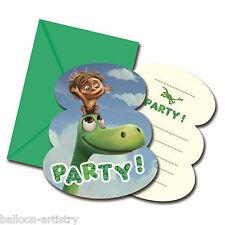 6 Disney Pixar's The Good Dinosaur Children's Party Invitations plus Envelopes