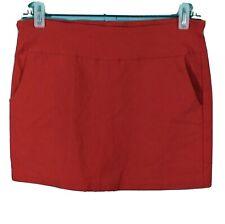 Courtenay Women's Mini Stretch Red Skort Athletic Golf Tennis Pockets Sz 10p