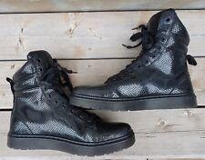 Dr Martens Air Wair MIX PC Hi Top Black Wave Snake Print Sneakers US 12 UK 10