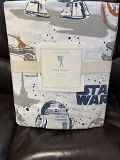 Pottery Barn Kids PBK Star Wars Droid Full Size Organic Cotton Sheet Set New!