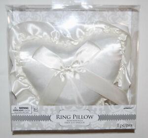 New! Amscan Ivory Ring Bearer Wedding Ruffled Ring Pillow Wedding Accessory
