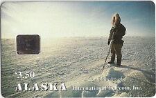 TK 9 Telefonkarte/Phonecard Alaska $3.50 Alaskan Eskimo Hunter Aulf. 3000