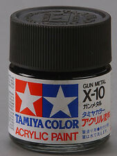 Tamiya X10 Gunmetal 3/4 oz Large Acrylic Paint Jar 81010 TAM81010