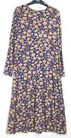 New Marks & Spencer Fit & Flare Floral Print Jersey Midi Dress 8 - 22