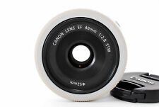 [Top MINT] Canon EF 40mm f/2.8 STM Pancake Lens White From JAPAN #93