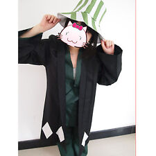 Japanese anime Animation Bleach Urahara Kisuke Cosplay Costume with hat size L