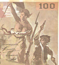 My world collection> FRANCE 1994 100Franc Banknote  VERY NICE pre-Euro