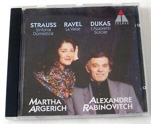 STRAUSS Sinfonica Domestica Argerich Rabinovitch RAVEL