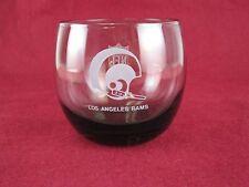 Vintage NFL Los Angeles Rams Smoked Glass Drink Tumbler Rare HTF