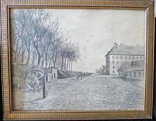 """Original Zeichnung  """" Löscharbeiten um 1930 """""""