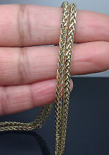 New 40 Inches Long 3mm A12B6 Palm Chain In 10K Yellow Gold Franco, Rope, Cuben