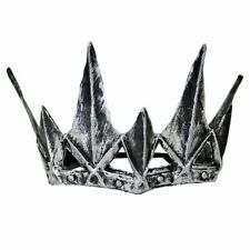 Costume Accessory Latex Pewter Colored Spiked Crown