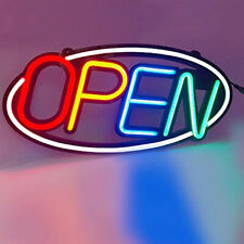 Led Neon SILICONE OPEN SIGN Oval Shape Board Shop Sign With Remote hanging kit