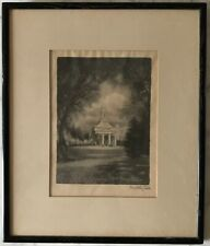 Antique Original Timothy Cole Hand Signed Wood Engraving 1929 Framed