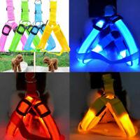 Best Dog Harness Cat Safety LED Flashing Light Leash Belt Safe Vests Rope C U8I4