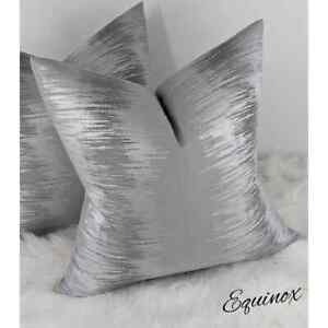 EQUINOX Handmade Cushion Cover Double Sided Grey Silver