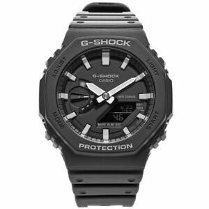 Casio G-Shock GA-2100-1AER Casioak Black Digital Watch Free US Shipping!