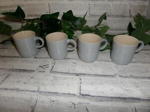 LE CREUSET DOVE GREY ESPRESSO CUPS X 4 NEW