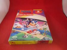 Sonic the Hedgehog Paint By Numbers Kit By Golden New 1993 Genesis Game Gear Era