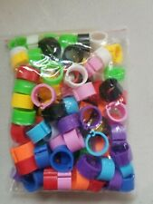Poultry Leg Band Rings 100 Pieces Multi Colored