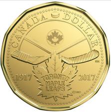 CANADA 1917-2017 100th Anniversary Toronto Maple Leafs LOONIE UNC $1 One Dollar