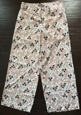 Women's Umgee Beige/Pink/Black/Ivory, 2 Pocket, Mid-Rise, Cotton/Poly Pants-sz M