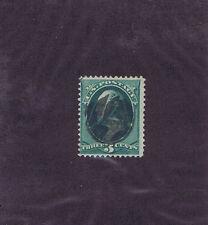 SCOTT# 184 USED 3c, 1878, FLOWER FANCY CANCEL OF WATERBURY CT, PF CERT.