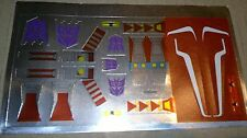 A Transformers complete replacement sticker/decal sheet for G1 Thrust