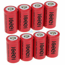8x 2400mAh 3.7V 16340 Li-ion Rechargeable Batteries 100% New & Never Used