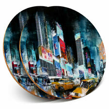 2 x Coasters - Times Square New York City Home Gift #2217