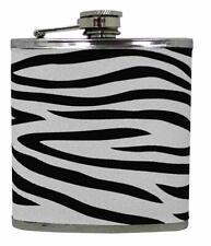 Island Dogs Zebra Hip Flask