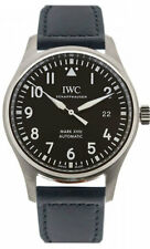 IWC Pilot's Mark XVIII Top Gun Miramar Black Leather Auto Men Watch IW327001 New