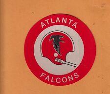 RARE 1960s ATLANTA FALCONS 3 inch 1 BAR HELMET CLOTH PATCH DECAL Unsold Stock