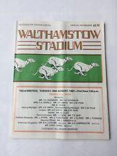 Vintage Walthamstow Stadium Greyhound Dog Racing Programme 25th August 1987