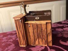 Dollhouse Miniature Artist Signed Zack Fox '86 Vintage Wood Kitchen Sink Cabinet