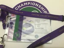 Wimbledon Men's Final Centre Court Debenture Used ticket with lanyard 2019